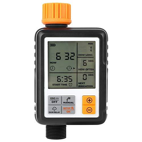 TANKE Temporizador de Grifo de Agua - Pantalla LCD Inteligente automática Temporizador de Agua de jardín electrónico Controlador de Sistema de riego de riego, 0.4in