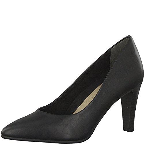 Tamaris Damen Pumps 22409-21,Frauen Pumps,elegant,feminin,festlich,Hochhackige Schuhe,Abendschuhe,Businessschuh,Trachten-Schuh,Stiletto 7.5cm,Black MATT,EU 36