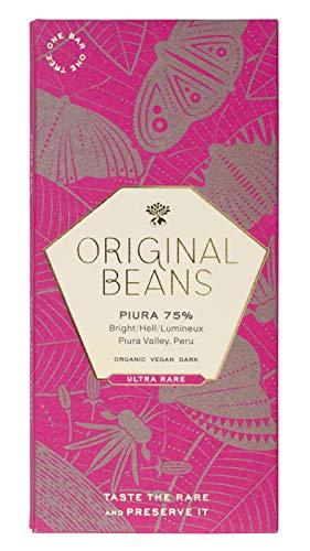 Original Beans - Piura 75% - 70g Tafel / CH-BIO-006 - Noten von Himbeere, Trockenpflaume und Pekannuss