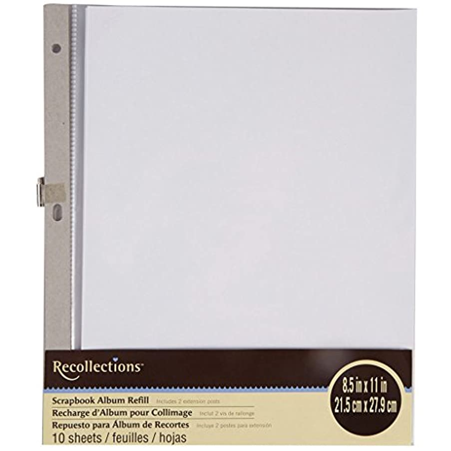 Recollections Scrapbook Album Refill 8.5 in x 11 in 10 Sheets