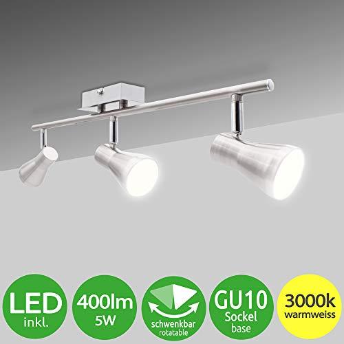 Lumare LED Deckenleuchte schwenkbar Inkl. 3 x 5W Leuchtmittel GU10 LED Deckenlampe LED Deckenstrahler LED Leuchte LED Deckenspot