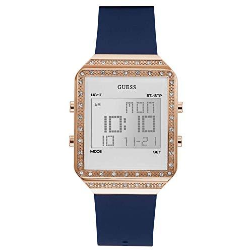 GUESS Reloj Digital para Mujer de Cuarzo con Correa en Silicone W1224L3