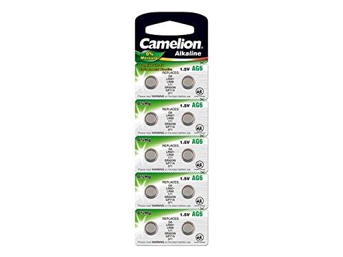 Camelion - 10 x Bouton AG6 cellules