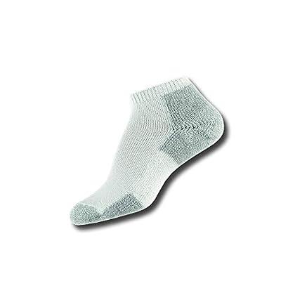 Thorlos JMM Max Cushion Running Low Cut Socks, White/Platinum, Small