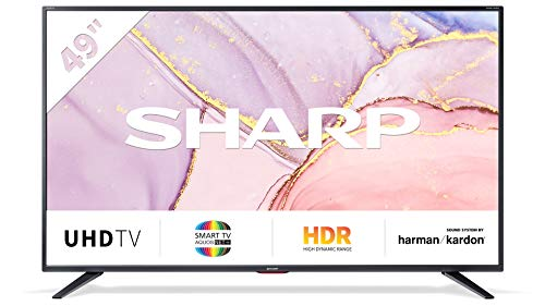 SHARP 49BJ5E 123 cm (49 Zoll) 4K Ultra HD Smart LED TV, HDR, Harman/Kardon Soundsystem, Triple Tuner