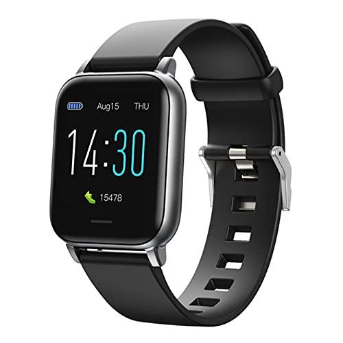 QKA Reloj Inteligente De 1.3 Pulgadas, Impermeable, Ritmo Cardíaco, Sangre, Rastreador De Fitness, Monitor De Sueño A Presión Arterial, Smartwatch,A
