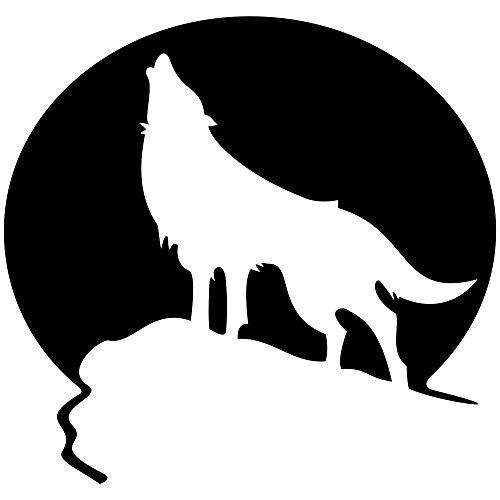 Heulender Wolf Aufkleber Laptop Aufkleber Tiere Sticker Autoaufkleber