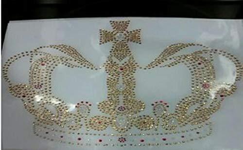 Parche con diseño de corona de diamantes de imitación, para transferencia de planchado, diseño de diamantes de imitación, para planchar