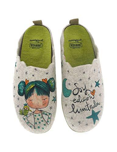 Zapatillas de casa para Mujer Fabricadas en España Vivant 202571 Beig - Color - Beige, Talla - 35