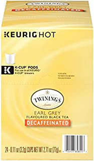 Twinings of London Decaffeinated Earl Grey Tea K-Cups for Keurig, 24 Count (Pack of 1)
