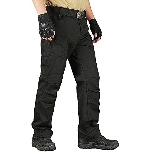 YAXHWIV Men's Tactical Pants Quick Dry Slim Fit Rip-Stop...