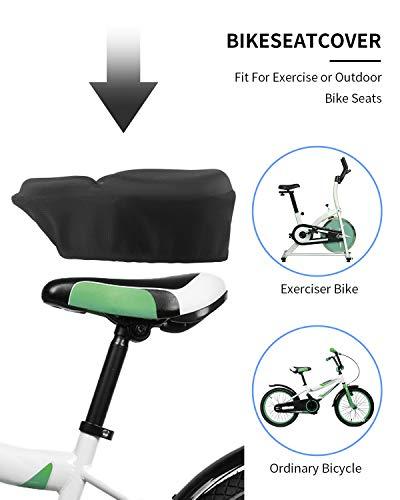 MSDADA Large Gel Bike Seat Cover Padded, Soft Bike Seat Cushion for Men&Women, Comfortable Bike Accessories for Mountain Bike Seat, Cruiser, Road Bike Saddle, Outdoor Indoor Cycling