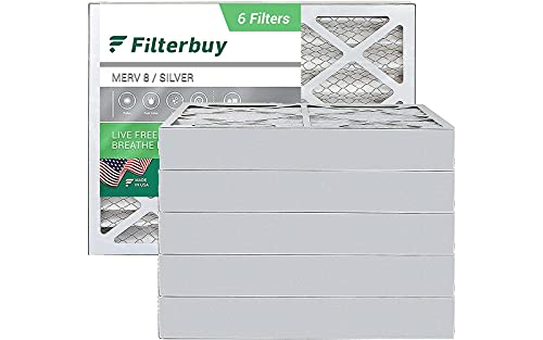 FilterBuy 20x25x4 Air Filter MERV 8, Pleated HVAC...