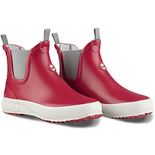 Nokian Footwear  Hai Low - knöchelhohe Kurzschaft Gummistiefel für Damen und Herren, handgefertigt aus Naturkautschukmischung, 42 EU, Red