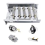 279838 Dryer Heating Element 3403585, 3387134 Cycling Thermostat, 3977767 High-limit Thermostat, 3977393 Thermal Cut-off Switch, 3392519 Thermal Fuse Replacement for Whirlpool & Kenmore Clothes Dryers