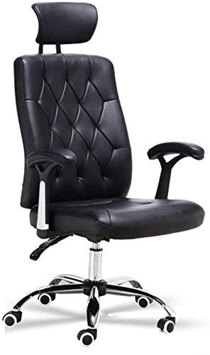 Sillas de oficina, sillas de escritorio, ergonómicas de respaldo alto, asiento de elevación con reposacabezas y reposabrazos, silla de tarea silla de rodillas (color: negro)