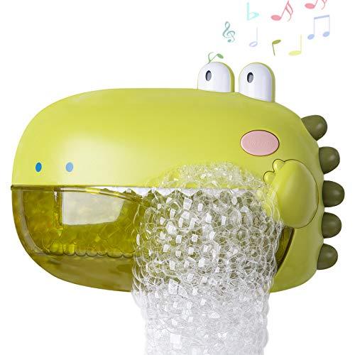 BBLIKE Badespielzeug Badewannenspielzeug Seifenblasenmaschine mit Musik Badespielzeug für Baby gut Geschenk für Kind und Baby