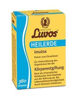 Luvos-Heilerde imutox Pulver Spar-Set 2x370g. Zur Unterstützung des Organismus bei der Körperentgiftung durch Bindung von Schadstoffen und Umweltgiften aus der Nahrung.