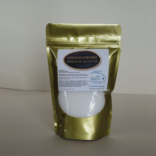 Gold Standard Organic Sulfur 1lb - 99.9% Pure MSM - Largest Granular Flakes Available! 3rd Party Tested **Same Day Priority Shipping** by H2O Air Water Americas