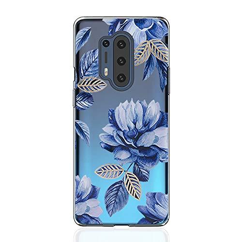 Kompatible für Handyhülle OnePlus 8 Pro Hülle - Silikon Blumen Muster Case Cover Durchsichtig Tasche Dünn Schutzhülle Handytasche Skin Softcase Schale Bumper TPU Handycover-16