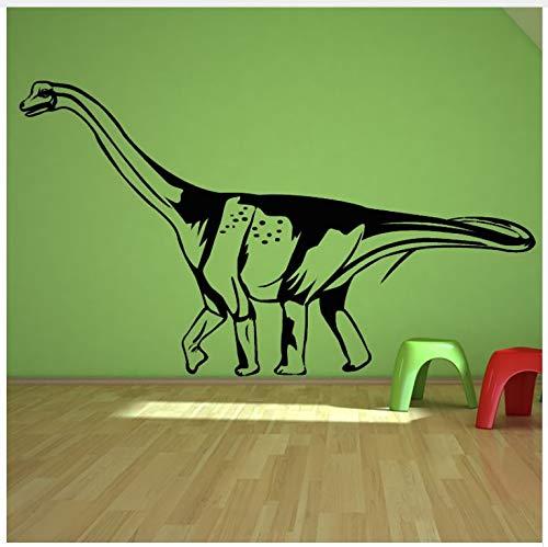 Nieuwe Ontwerp Dinosaurus Sticker Op Muur Decor DIY Decals Elf Lijm Behang Hollow Out Zwart Gedrukt Home Decor Muurstickers 77X44cm