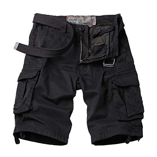lxylllzs Hommes Ete Outdoor Cotton Casual,Short de Travail Droit pour Homme, Pantalon Court d'extérieur à Poches multiples-38_ 迷彩 1, Shorts Bermudas Cargo Outdoor,