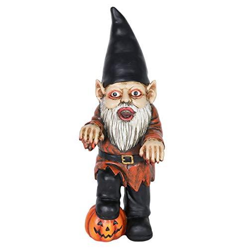 Exhart Halloween Zombie Lawn Gnome Statue – Unique, Horror Zombie Garden Gnome for Halloween...