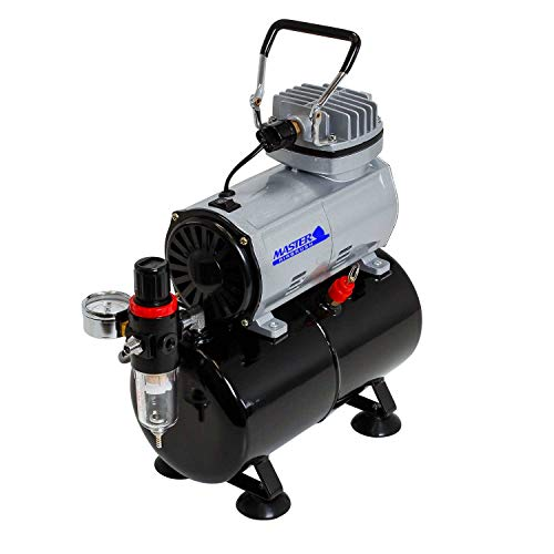 Master Airbrush TC-20T Airbrush Compressor with Air Storage Tank, Water Trap and Regulator