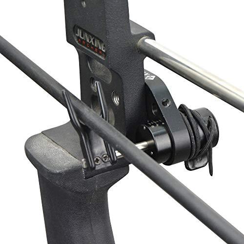 MILAEM Tiro con Arco Reposaflechas Arco Compuesto Resto de Flecha Drop Away Flecha Resto Flecha Lanzador Accesorio de Caza para diestros (Negro)