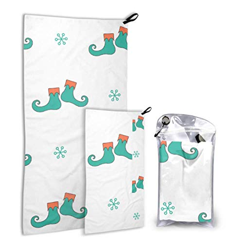Xuyonh Cute Fashion Creative Magic Boots 2 Pack Microfiber Beach Towels for Teens Pool Towel Set Fast Drying Best for Gym Travel Backpacking Yoga Fitnes