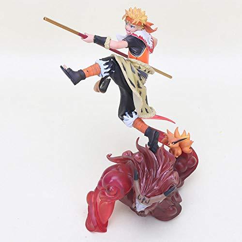 20 cm Anime Naruto Figura Shippuden Uzumaki Naruto Cos The Monkey King Son Goku Figura de Accion PVC Coleccion Modelo Juguetes