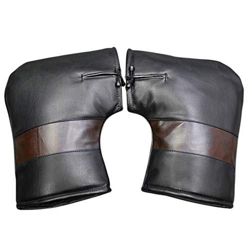 Manillar de motocicleta, guantes de agarre de invierno, resistente al viento, impermeable, con diseño de cordón, 01: Small mouth