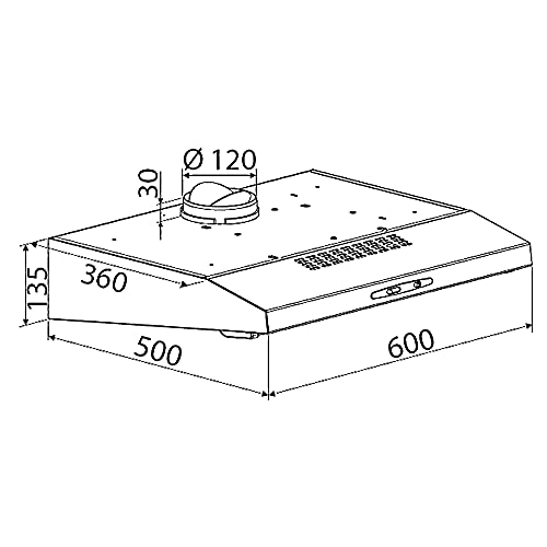 Bomann DU 623.3 Dunstabzugshaube Unterbau – Glas-Wrasenschirm – Edelstahl-Optik - 7