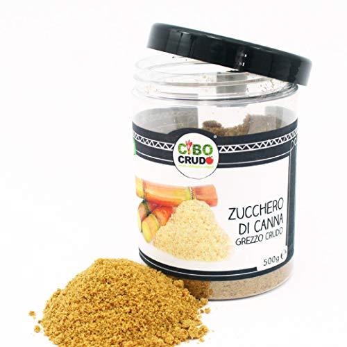 CiboCrudo Zucchero di Canna Crudo Grezzo Bio, Succo Integrale di Canna Essiccato al Sole e Cristallizzato, Puro al 100%, Perfetto per Dolci, Biscotti, Torte,...