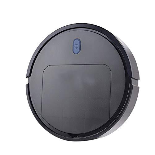 LG Snow Robot Aspirumeer, hogar de la aspiradora de Tres en uno, aspiradora Inteligente Recargable, Blanco y Negro (Color : Black)