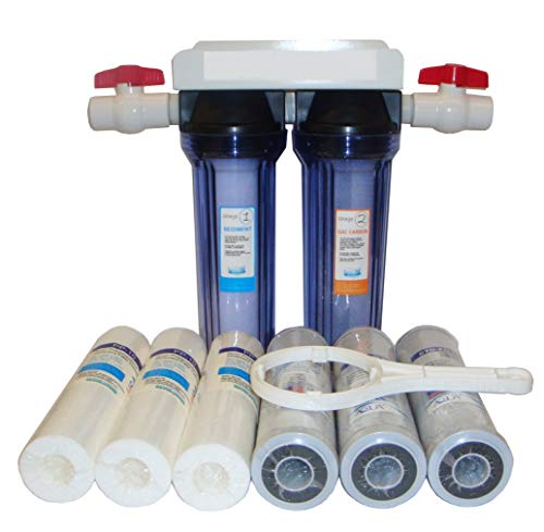 Reverse Osmosis Revolution Dual Stage Whole House Water Purification System with Sediment and CTO Filters, with 3/4