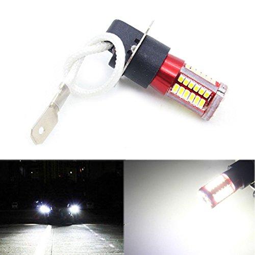 WOVELOT 1 Paire H3 4041 SMD 57 LED Ampoules Xenon Lampe antibrouillard 12V-24V Blanc 6000K de Voiture