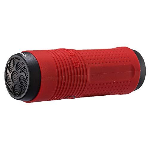 Bluetooth luidspreker, draagbaar, draadloos, subwoofer, compatibel met LED-licht van de powerbank met karabijnhaak voor bevestiging op de fiets