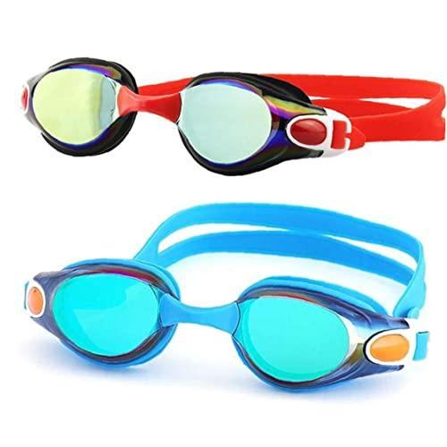 Froiny 2 Pack Gafas Natación, Niños Adultos Gafas Natación para Hombres Mujeres Jóvenes Sin Fugas Antivuelco UV
