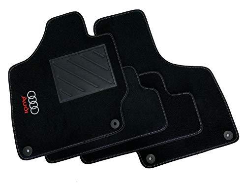 Tappetini per Audi TT dal 2006 al 2014 con Clip, 1 Logo e battitacco