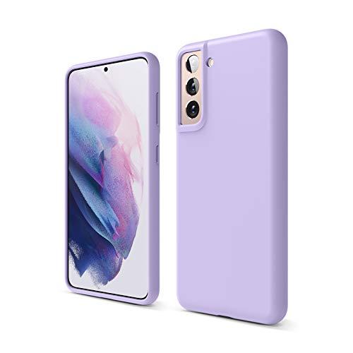 elago Cover di Silicone Liquido Compatibile con Samsung Galaxy S21 Case, Silicone Premium, Protezione Completa del Dispositivo: 3 Livelli di Struttura (Lavanda)
