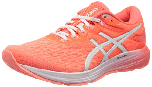 ASICS Womens Dynaflyte 4 Running Shoe, Flash Coral/White