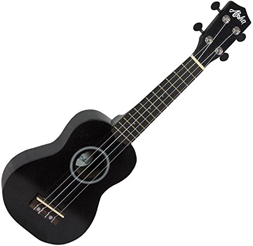 Aloha+ 300 BK - Ukelele Soprano color negro 4 cuerdas para principiantes