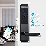 Cerradura electrónica Inteligente, WiFi Smart Touch Pantalla Cerradura Cerradura de la Puerta Digital aplicación Teclado Cerradura Casa Hotel Apartamento electrónica