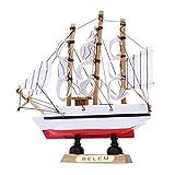 Homoyoyo Maqueta de Velero de Madera Modelo de Barco Velero Figura de Decoración de Velero Decoración Náutica Artesanía de Madera Centros de Mesa para Mesa de Hogar