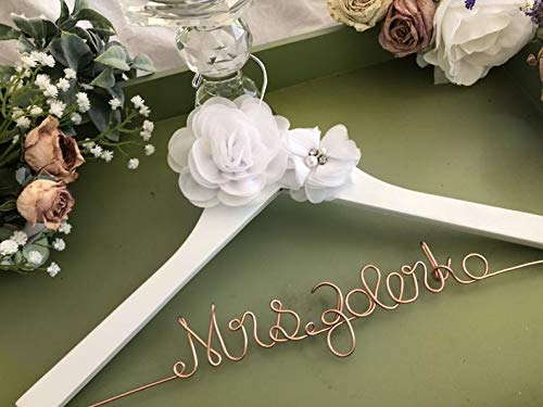 Bridesmaids or Flower Girl Bridesmaids and Flower Girl Personalized Wedding Dress Hangers for Bride Gift for Bride Wedding Shower Gift