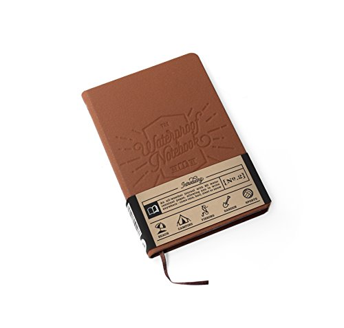 Luckies of London The Waterproof Notebook - Taccuino impermeabile in carta di pietra, idea regalo per viaggio