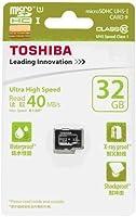 東芝 microSDHC 32GB 防水 40MB/s Class10 UHS-I TOSHIBA