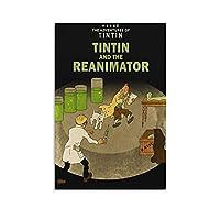 タンタンの冒険ポスター Reanimator クール ポスター 壁アート キャンバス 印刷 アートパネル オフィス装飾 ぶら下がる 版画 ギフト16x24inch(40x60cm)