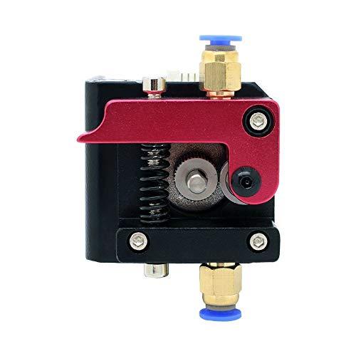 ICQUANZX Bloque de Marco extrusor Bowden MK8 de 1.75 mm de la Mano Izquierda para la Impresora Reprap 3D Kossel Mendal Prusa